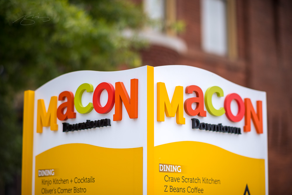 Macon Downtown TT Sign